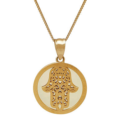 14k yellow gold hamsa pendant sams club 14k yellow gold hamsa pendant aloadofball Gallery