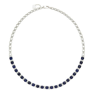 necklace in freshwater sapphire sterling jewelry created pearl and silver white ct station