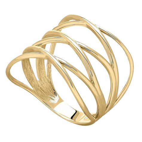 14K Yellow Gold Layered Ring