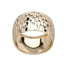 14K Yellow Gold Texured Ring