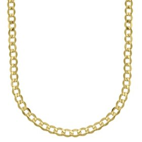 """14K Yellow Gold Bevelled Curb 120 Chain - 22"""""""