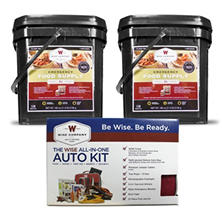 Wise Just in Case Bundle with Auto Kit (2 Month Supply for 1 Adult)