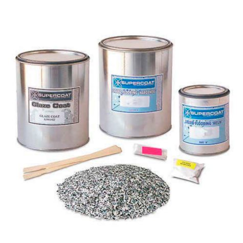 Supercoat Liquid Flooring Standard Kit with Glaze Coat - (Multiple Colors)
