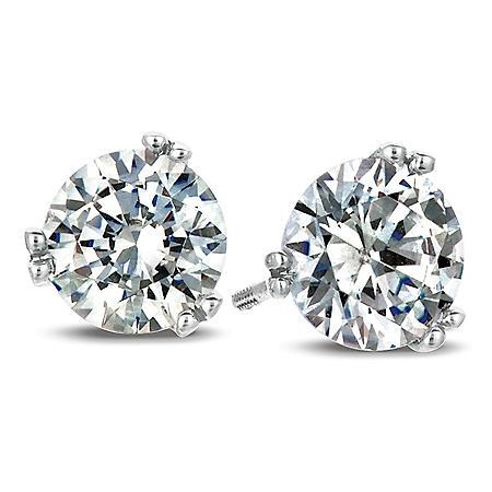 0.25 CT. T.W. Round-Cut Diamond Earrings in 18K White Gold (I, SI2)