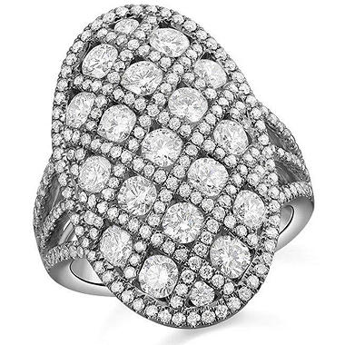 2.77 ct. t.w. Fashion Ring in 18k White Gold (G-H, SI)