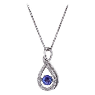 created jewelry silver white sterling natural necklace citrine sapphire and ct in pendant