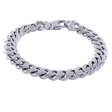 Sterling Silver Ladies Miami Curb Bracelet