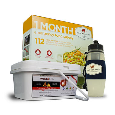 Wise 1-Month Supply, Water Filter,  Fire Fuel Source (1 person)
