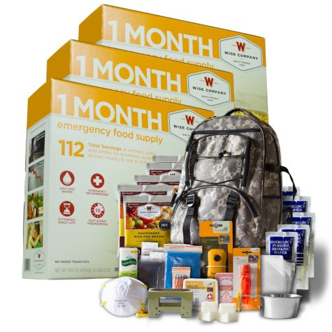 Wise 3-Month Supply Plus 5-Day Survival Backpack (1 person)