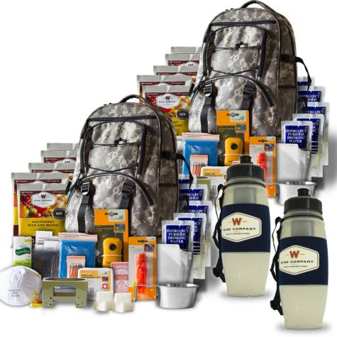 Wise Ultimate 5-Day Bugout Backpacks, Plus 2 Water Filters (2 people)