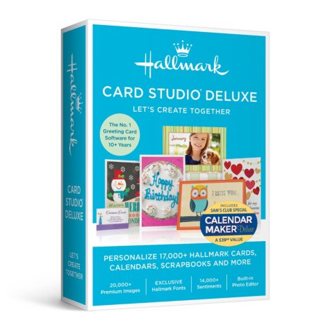 Hallmark Card Studio Deluxe with Calendar Maker