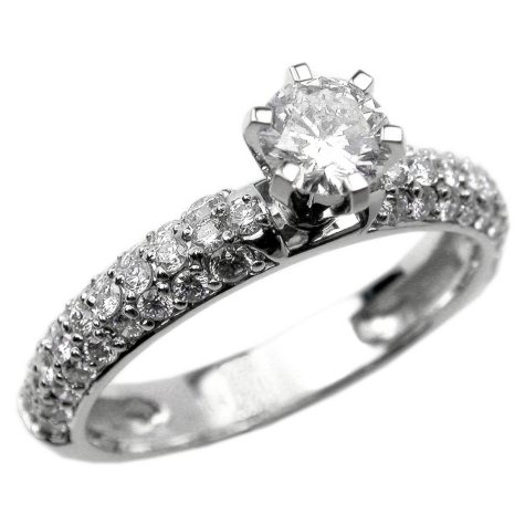 1.00 ct. t.w. Round-Cut Diamond Pave Ring (F, VS2)