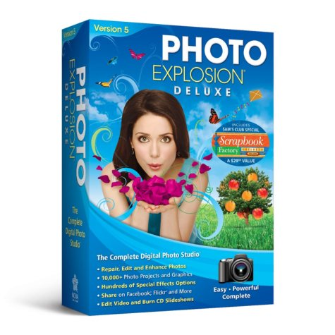 Photo Explosion Deluxe 5.0 with Scrapbook Factory Deluxe 5.0