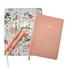 Eccolo 2 Journals and 2  Pen Set (Assorted Styles)