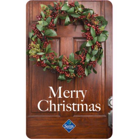 Christmas Door Holiday Gift Card
