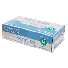 DisposaBull Powder-Free Vinyl Gloves, Choose Your Size