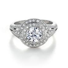 Premier Diamond Collection 1.58 CT. T.W. Round Diamond Double Halo Engagement Ring in 18K White Gold - IGI (G-H, I1)