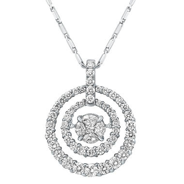 1.50 CT. T.W. Diamond Necklace in 14K White Gold