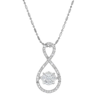 .50 CT. T.W. Diamond Necklace in 14K White Gold
