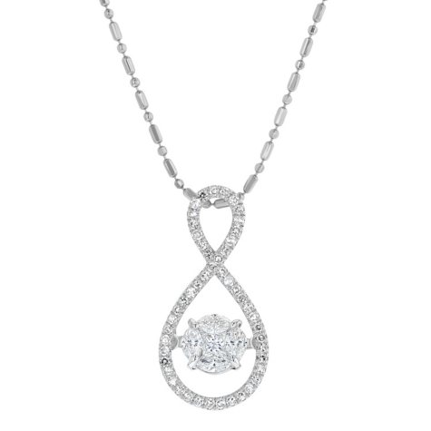 0.50 CT. T.W. Diamond Necklace in 14K White Gold