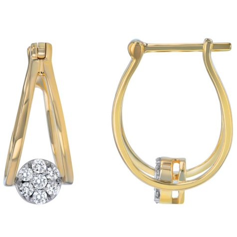 0.25 CT. T.W. Diamond Earrings in 14K Yellow Gold