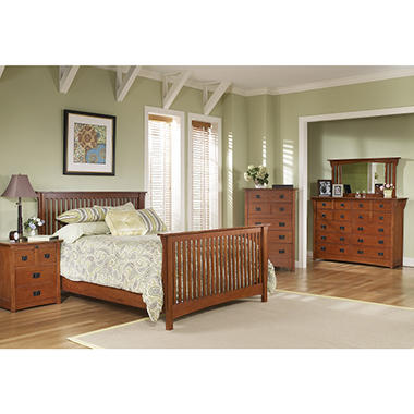 Mission Oak Bedroom Suite   King   6 pc. Mission Oak Bedroom Suite   King   6 pc    Sam s Club