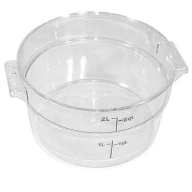 Container 2 Qt Round Clear - 12 Pk.