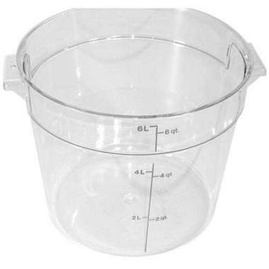 Container 6 Qt Round Clear - 12 Pk.