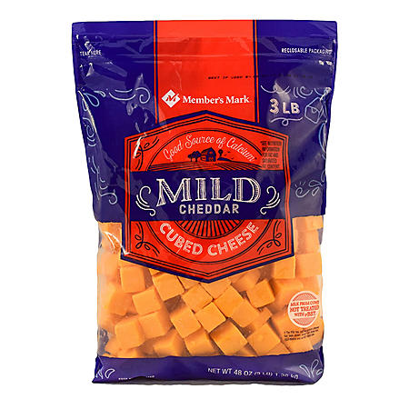 Member's Mark Mild Cheddar Cheese Cubes (3 lbs.)
