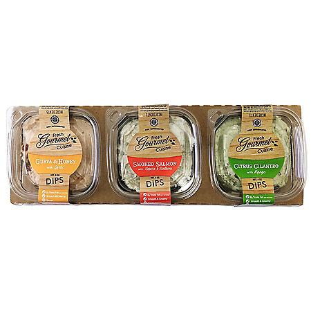 Fresh Gourmet Cuisine Dips Variety Pack (3 pk.)