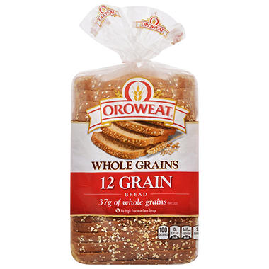 Oroweat Whole Grains 12 Grain Bread (24 oz. loaves, 2 ct.)