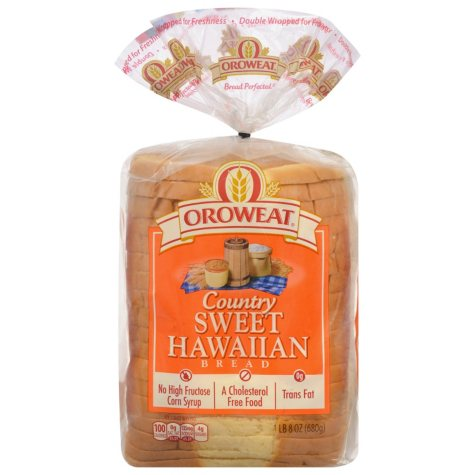 Oroweat Country Sweet Hawaiian Bread (24 oz. loaves, 2 pk.)