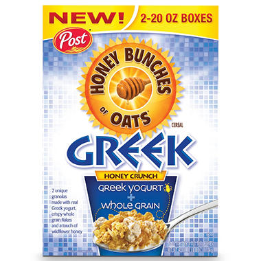 Post Honey Bunches of Oats with Greek Yogurt - 40 oz.