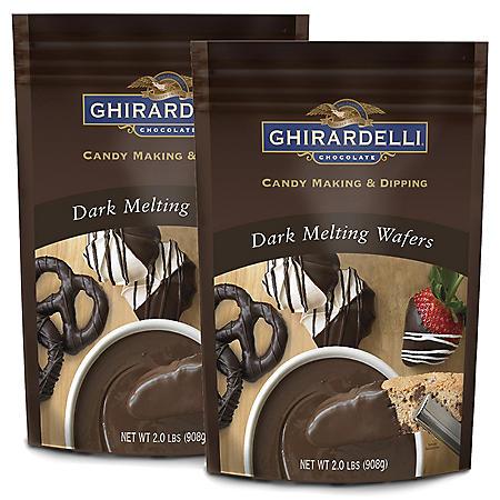 Ghirardelli Dark Chocolate Melting Wafers - 2 pk.