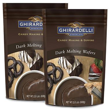 Ghirardelli Dark Chocolate Melting Wafers - 2 pk. - Sam's Club