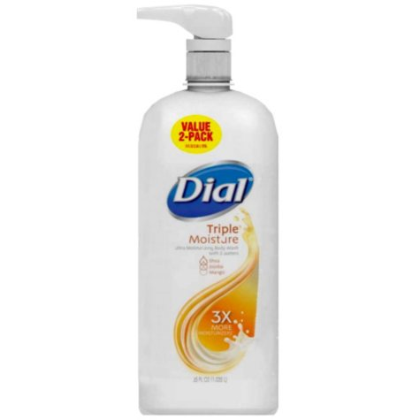 Dial Ultra Moisturizing Body Wash, Triple Moisture - 35 fl. oz. - 2 pk.