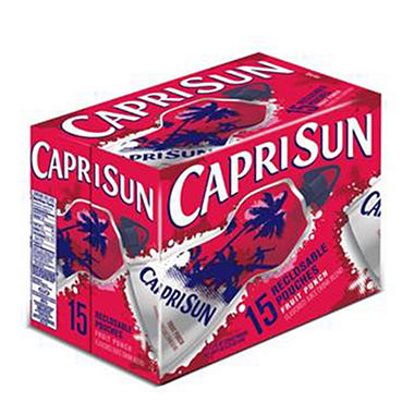 Capri Sun Spouted Fruit Punch Ready to Drink  11.2 oz. - 15 ct.
