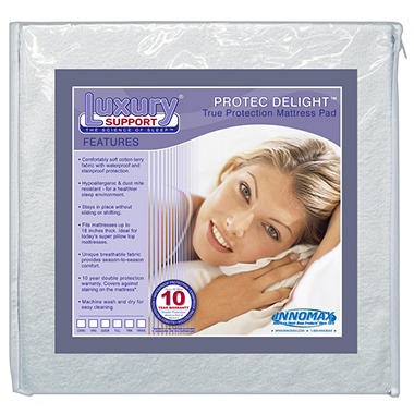 ProTec Delight Mattress Protect Pad  - Various Sizes