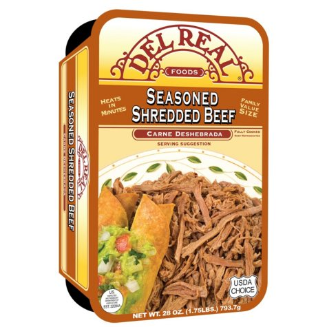 Del Real Seasoned Shredded Beef (28 oz.)