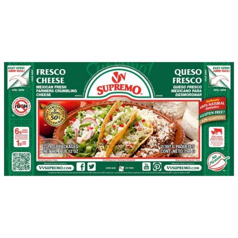 V&V Supremo Queso Fresco Fresh Crumbling Cheese (14 oz. ea., 2 pk.)