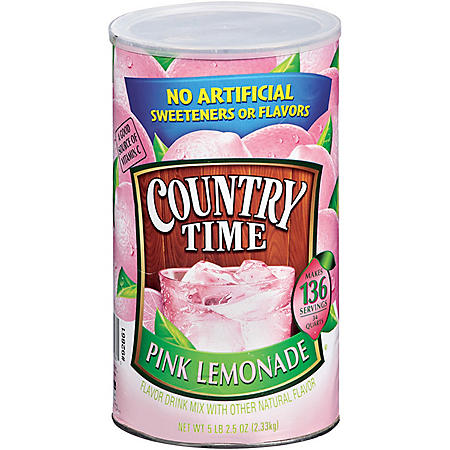 Country Time Pink Lemonade Mix, 82.5 oz. Cannister (makes 34 qts.)