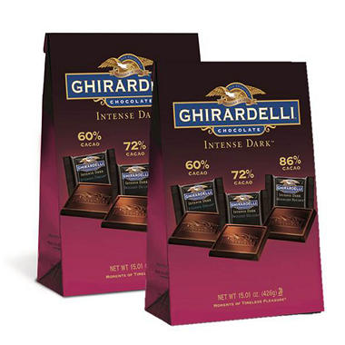 Ghirardelli Intense Dark Collection XL Bag (15.1 oz., 2 pk.)