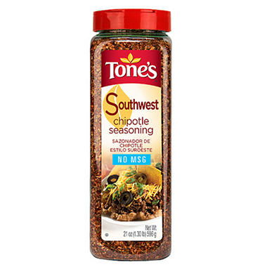 Tone's 21 oz. Southwest Chipotle Seasoning - 12 pk.