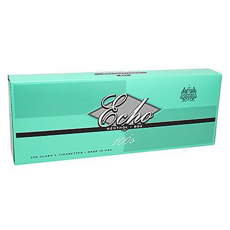 Echo Gold Menthol 100s Box (20 ct., 10 pk.)