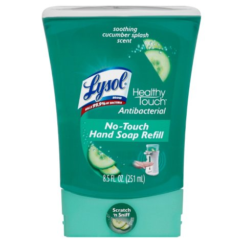 Lysol No-Touch Hand Soap Refills, Cucumber Splash - 8.5 oz. - 3 pk.