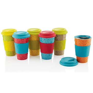 Travel Mug Set - 6 pcs. - Various Colors