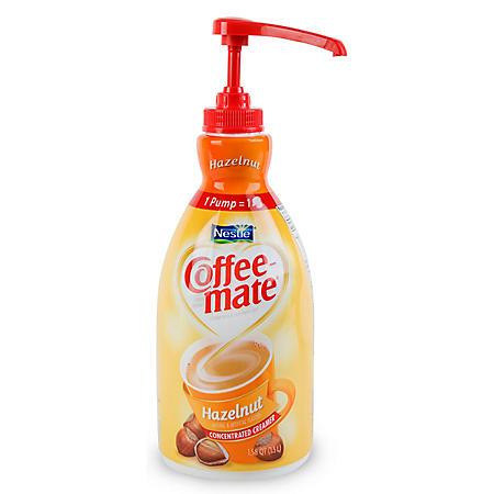 Nestle Coffee-mate Liquid Creamer Pump, Hazelnut (1.5 L)