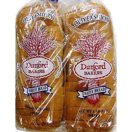 Dunford Bakers White Bread (24oz / 2pk)