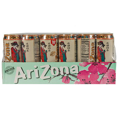 AriZona Diet Green Tea - 23 oz. cans - 24 pk.