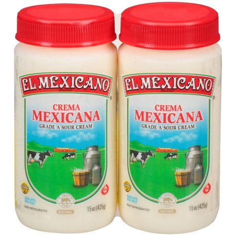 El Mexicano Crema Mexicana (15 oz. ea., 2 pk.)